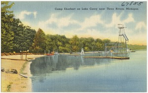 Camp Eberhart on Lake Corey near Three Rivers, Michigan