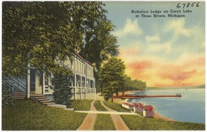 Richelieu Lodge on Corey Lake at Three Rivers, Michigan