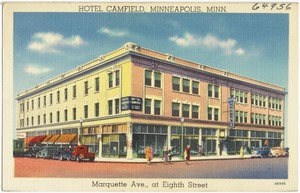 Hotel Camfield, Minneapolis, Minn. Marquette Ave., at Eighth Street