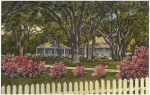 Fernando Gautier Homestead, antiquity at its best, on banks west Pascagoula Singing River, Hwy. 90, Gautier, Miss.