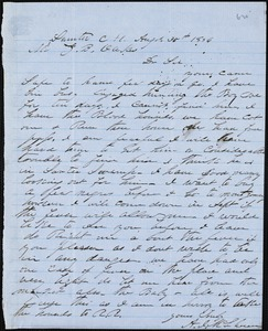 A. J. McElveen, Sumter Court House, S.C., autograph letter signed to Ziba B. Oakes, 30 August 1856