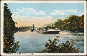 Scene on the river, Taunton, Mass.