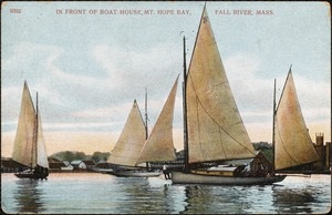 In front of boat house, Mt. Hope Bay, Fall River, Mass.