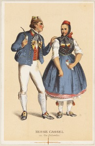 German peasant costumes - Hesse Cassel on the Schwalm