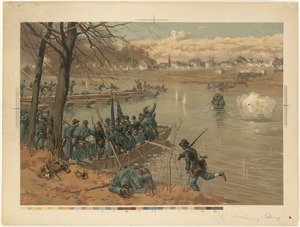 Battle of Fredericksburg, Laying the Pontoon Bridge