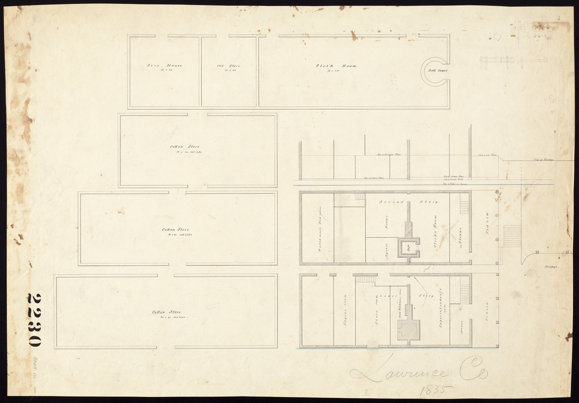 Cotton warehouse. Floor plan