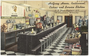 Halfway House Restaurant, Cabins and Service Station, U. S. Dixie Highway #25, Williamstown, Kentucky