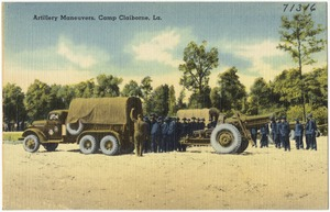 Artillery maneuvers, Camp Claiborne, La.