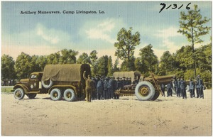 Artillery maneuvers, Camp Livingston, La.