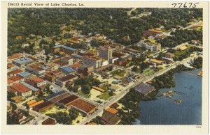 (9611) Aerial View of Lake Charles, La.