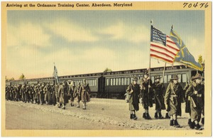 Arriving at the Ordnance Training Center, Aberdeen, Maryland