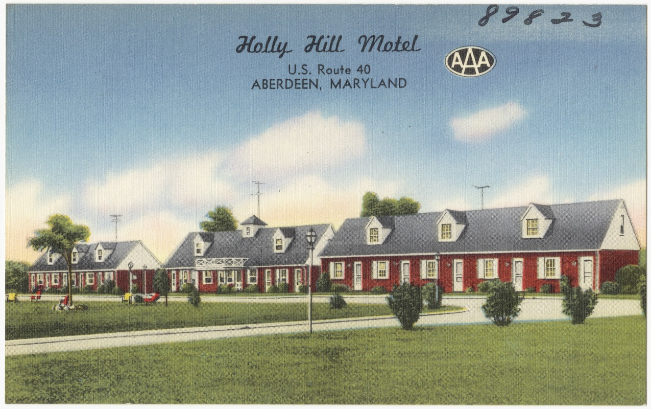 Holly Hill Motel, U.S. Route 40, Aberdeen, Maryland