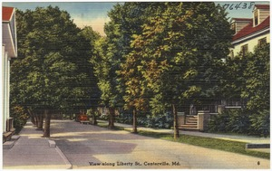 View along Liberty St., Centerville, Md.
