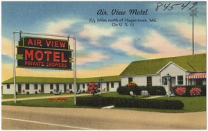 Air View Motel, 3 1/2 miles north of Hagerstown, Md. on U. S. 11