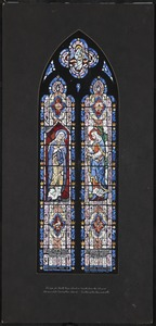 Design for north nave window fourth from the chancel, Immaculate Conception Church, Easthampton, Massachusetts
