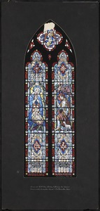 Design for north nave window fifth from the chancel, Immaculate Conception Church, Easthampton, Mass.