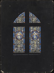 Design for chapel window at right of chancel, Saint Stephen's Church, Fall River