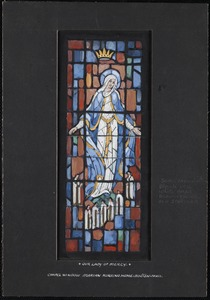 Our lady of mercy, chapel window, Marian Nursing Home, Boston, Mass.