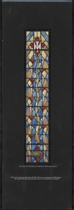 Charity, the first of twelve fruits of the Holy Spirit, typical design for one of the twelve windows of the nave of Saint Anthony's Church, Fall River, Massachusetts