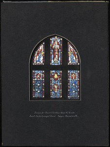 Design for chancel window above the reredos, Saint Mark's Episcopal Church, Foxboro, Massachusetts