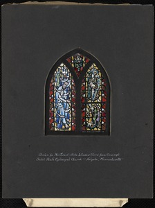 Design for northeast aisle window third from transept, Saint Paul's Episcopal Church, Holyoke, Massachusetts