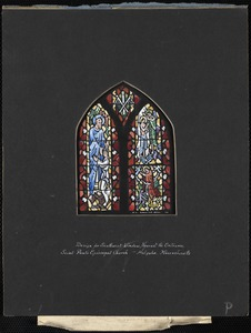 Design for southeast aisle window nearest the entrance, Saint Paul's Episcopal Church, Holyoke, Massachusetts