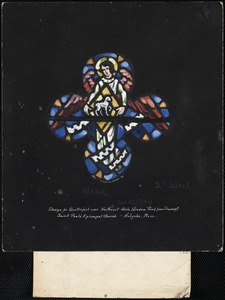 Design for quatrefoil over northeast aisle window third from transept, Saint Paul's Episcopal Church, Holyoke, Mass.