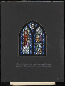 Design for northeast aisle window fourth from transept, Saint Paul's Episcopal Church, Holyoke, Massachusetts