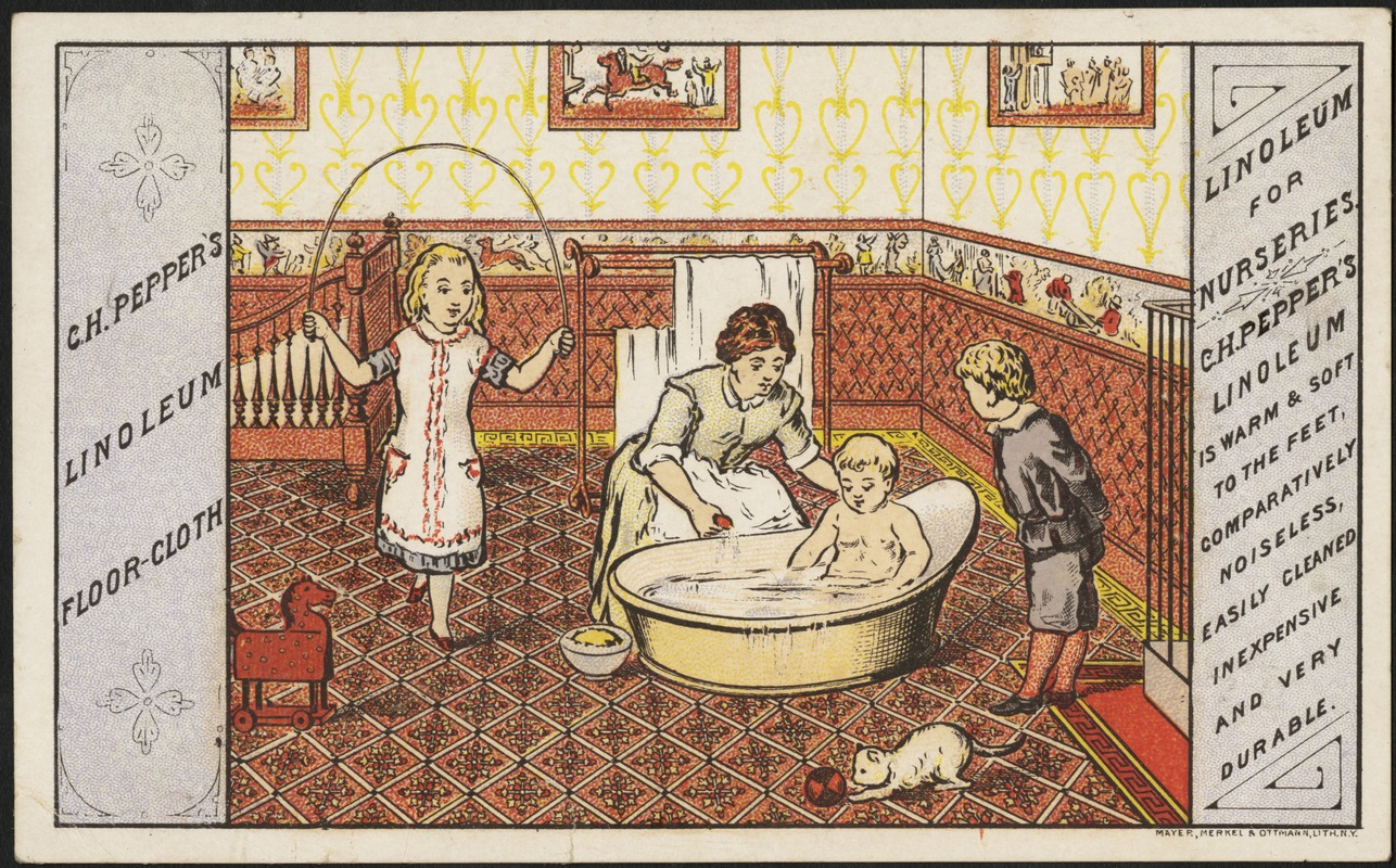 c. h. pepper's linoleum floor-cloth, linoleum for nurseries