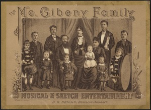 The McGibeny Family, musical & sketch entertainment, B. S. Driggs, business manager