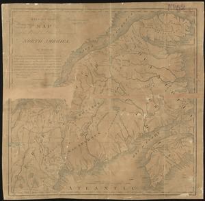 Extract from a map of the British and French dominions in North America
