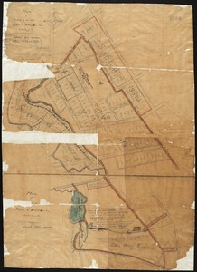 Plan of the estate of the late Richd. F. Ha[nn]on, Esq., Petersburg, Va. (northern portion, in lots)