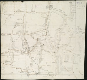 A plat of Washington Township, Hocking County Ohio