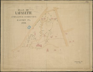 Plan of Lafayette College grounds Easton, Pa
