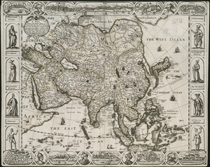 A new, plaine, and exact map of Asia