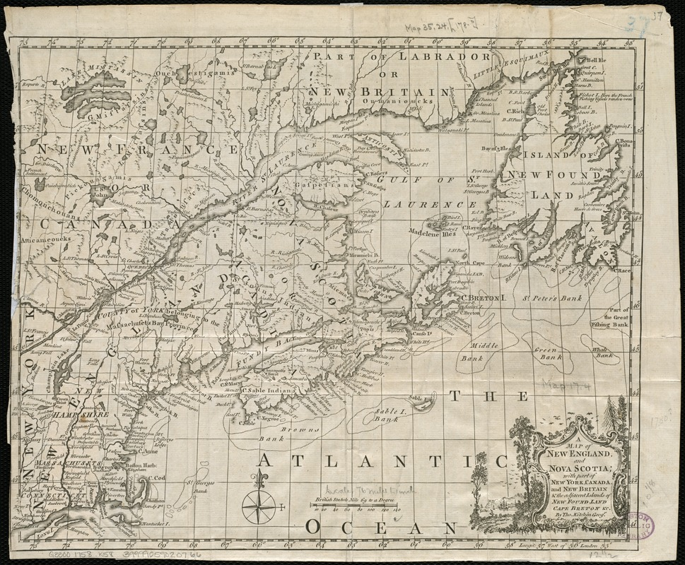 A map of New England, and Nova Scotia - Norman B. Leventhal Map ...