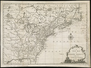 A new map of North America from the latest discoveries