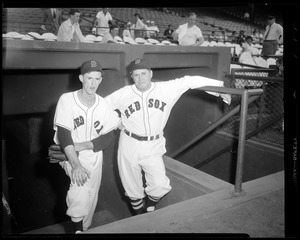 Manager of the Red Sox, Joe McCarthy, with Mickey McDermott