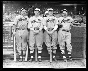 Pepper Martin, Leo Durocher, Frankie Frisch and Jimmy Collins of the Cardinals