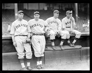 Pirates, including Pie Traynor, at Braves Field
