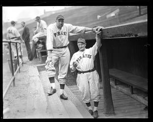 Bill Brubaker and Honus Wagner of the Pirates
