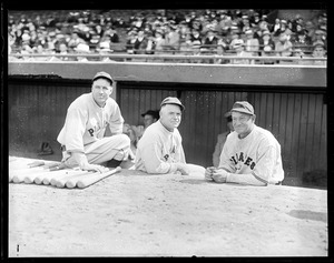 Pie Traynor, George Gibson and Honus Wagner of the Pirates