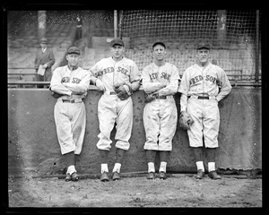 Red Sox players at Braves Field