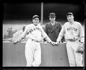 Former Red Sox player-manager Jack Barry with Braves and Red Sox player