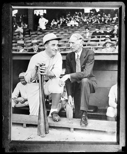 Al Simmons and Connie Mack of the Athletics
