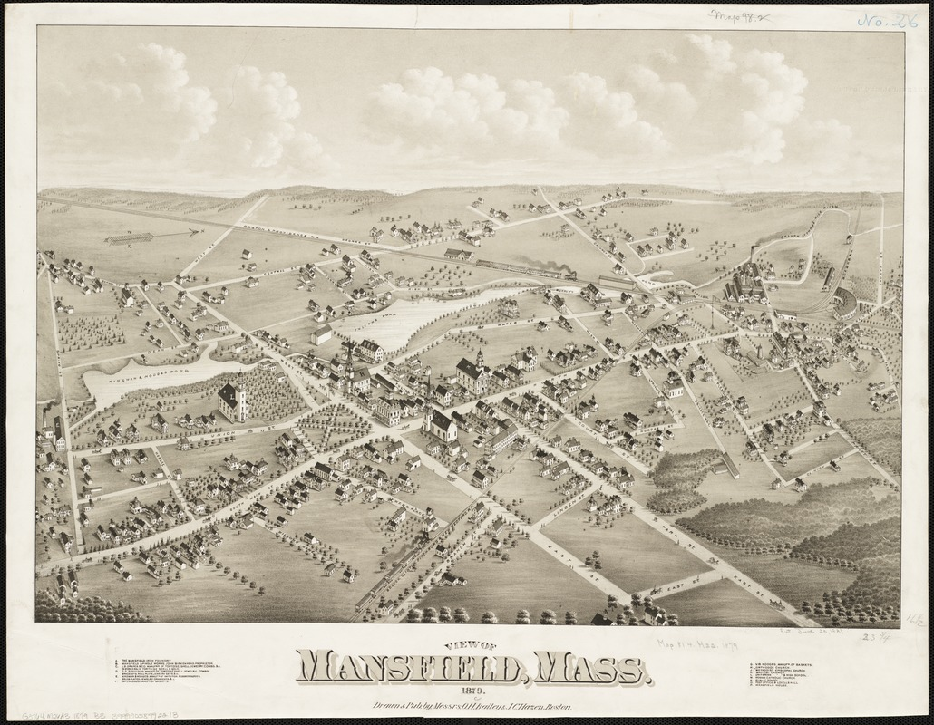 View of Mansfield, Mass