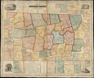 Map of Franklin County, Massachusetts