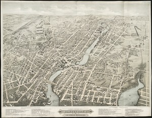 Bird's eye view of Pawtucket & Central Falls, R.I. 1877