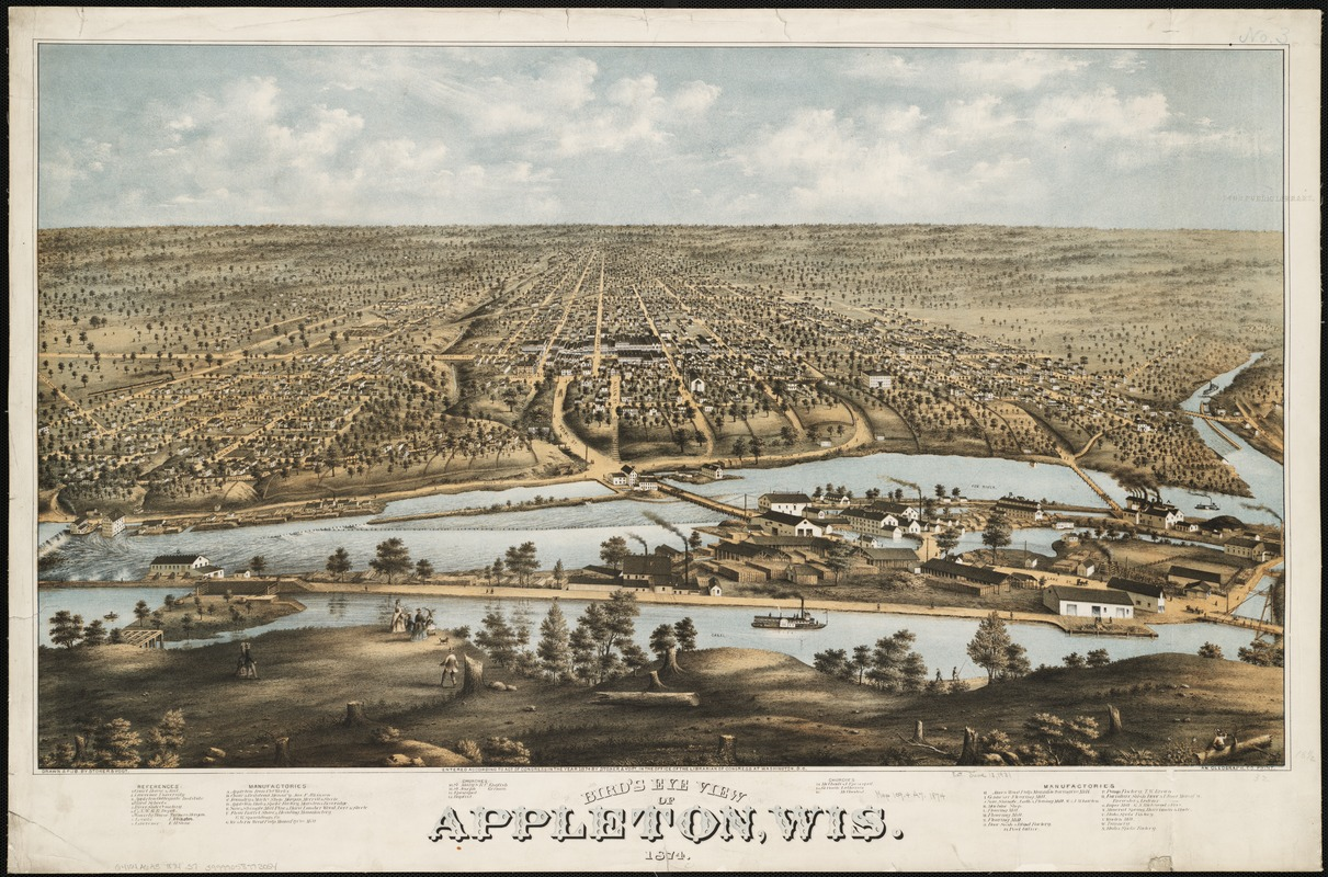 Bird's eye view of Appleton, Wis