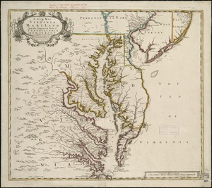 A new map of Virginia, Mary-land and the improved parts of Penn-sylvania & New Jersey